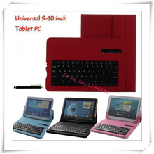 Universal Removable Bluetooth Keyboard PU Case Cover For Nokia Lumia 2520 For Lenovo Miix2 10 10-ZTH Free Stylus Pen