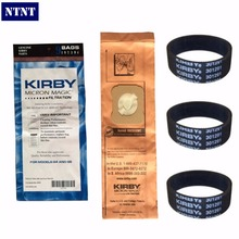 NTNT For Kirby 9 Genuine Vacuum Micron Magic Bags G4 & G5 197394 Generation 4 Gen 5 Kirby Bag, 197394 (9 pack) & 3 Belts 301291