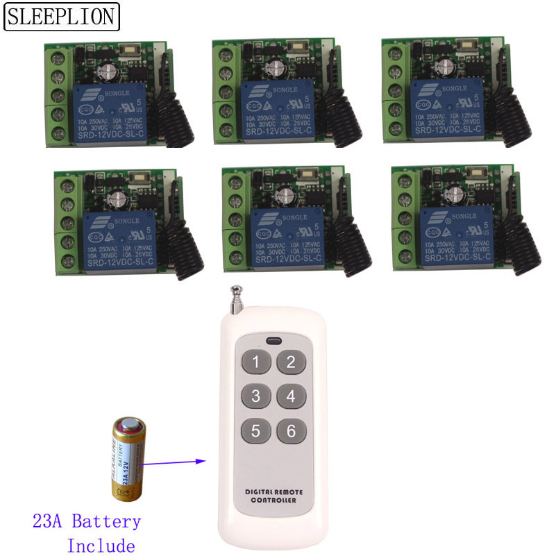 12V 1CH Relay Smart Wireless Remote Control Light Switch Transmitter 6 Receiver-1 (2)
