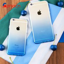 Gradient color Phone Case for Apple iPhone 7 7 Plus Luxury TPU Silicone Soft Back Cover Case for iPhone 6 7 5 5s SE 6s Plus Case(China)