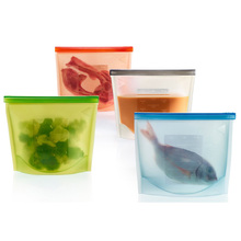 Silicone Fresh Bags Sealing Storage for Home Food Kitchen Organization Gadgets Cooking Tools