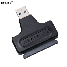 "kebidu 10pcs Hard Disk Drive 2.5"" HDD Enclosure Housing Cover Case + USB 3.0 To SATA Serial ATA HDD Converter Adapter Cable"