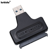 "kebidu 10pcs Hard Disk Drive 2.5"" HDD Enclosure Housing Cover Case + USB 3.0 To SATA Serial ATA HDD Converter Adapter Cable(China)"