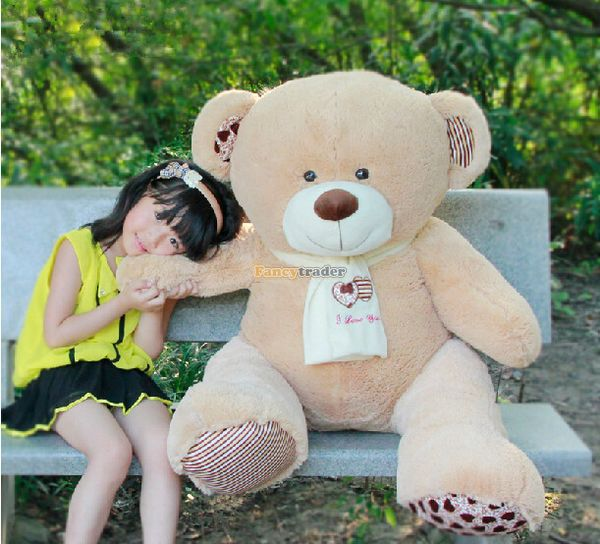 Fancytrader 39 / 100cm Giant Stuffed Soft Plush Lovely Scarf Teddy Bear Toy, Great Gift For Kids, Free Shipping FT50703<br><br>Aliexpress
