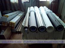 4 square meters (1.524m * 2.67m )  high contrast dark grey Rear projection film for hologram display