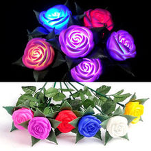 Hot Chic Garden Yard Path Lawn Power LED Rose Flower Light Decorative Light Lamp