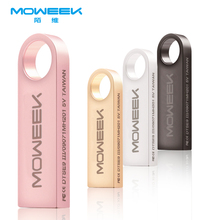 Moweek 2017 hot usb flash drive 32gb 64gb usb stick 4gb 8gb 16gb metal pendrive usb 2.0 pen drive U disk with key ring free ship
