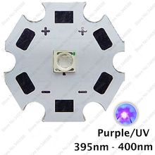 5pcs 3W 395nm to 405nm UV Ultraviolet Purple Color 3535 Epileds High Power LED Light Emitter Diode on 8/12/14/16/20mm Star PCB