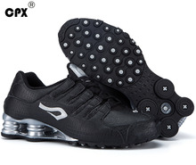 Original CPX mens Shox Tech Crocodile pattern Leather sneaker zapatillas deportivas hombre athletic outdoor sports running shoes