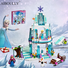 With Original Box Princess Castle Building Blocks Anna Elsa Educational Brick Ice Castle Girl Game Set Gift For Girl 316pcs/lot