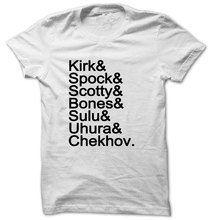 STAR TREK ORIGINAL Mr. Spock Captain Kirk Uhura Sulu Mr. Chekhov Dr. Bones McCoy Unisex T-Shirt T1896(China)