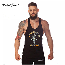 Fitness!New 2017 fashion cotton sleeveless shirts tank top Fitness men shirt mens singlet Bodybuilding Plus size vest(China)