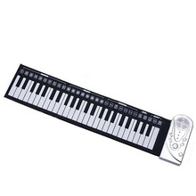 New Portable Piano 49 Keypad With Speaker Folding Silicone Soft kids Beginner Practice Player Musical Instrument Children's toys