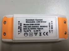 1pcs resell 3-5*3W 9W 15W led 700mA Dimmable led driver 9-19V DC 50/60HZ Constant current AC 220 - 240 V