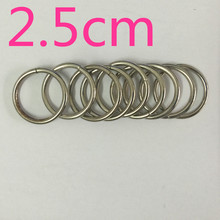 100pcs/lot 1''inch 25mm (2.5cm) 5pcs Silver Metal Plating O Rings of leather Accessory Cast High Quality Carft Strap Round DIY(China)