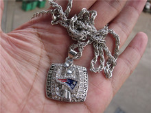 High quality 2003 New England Patriots World Super Bowl Championship Pendant Necklace With 24 inches Length Chain Fan Gift(China)