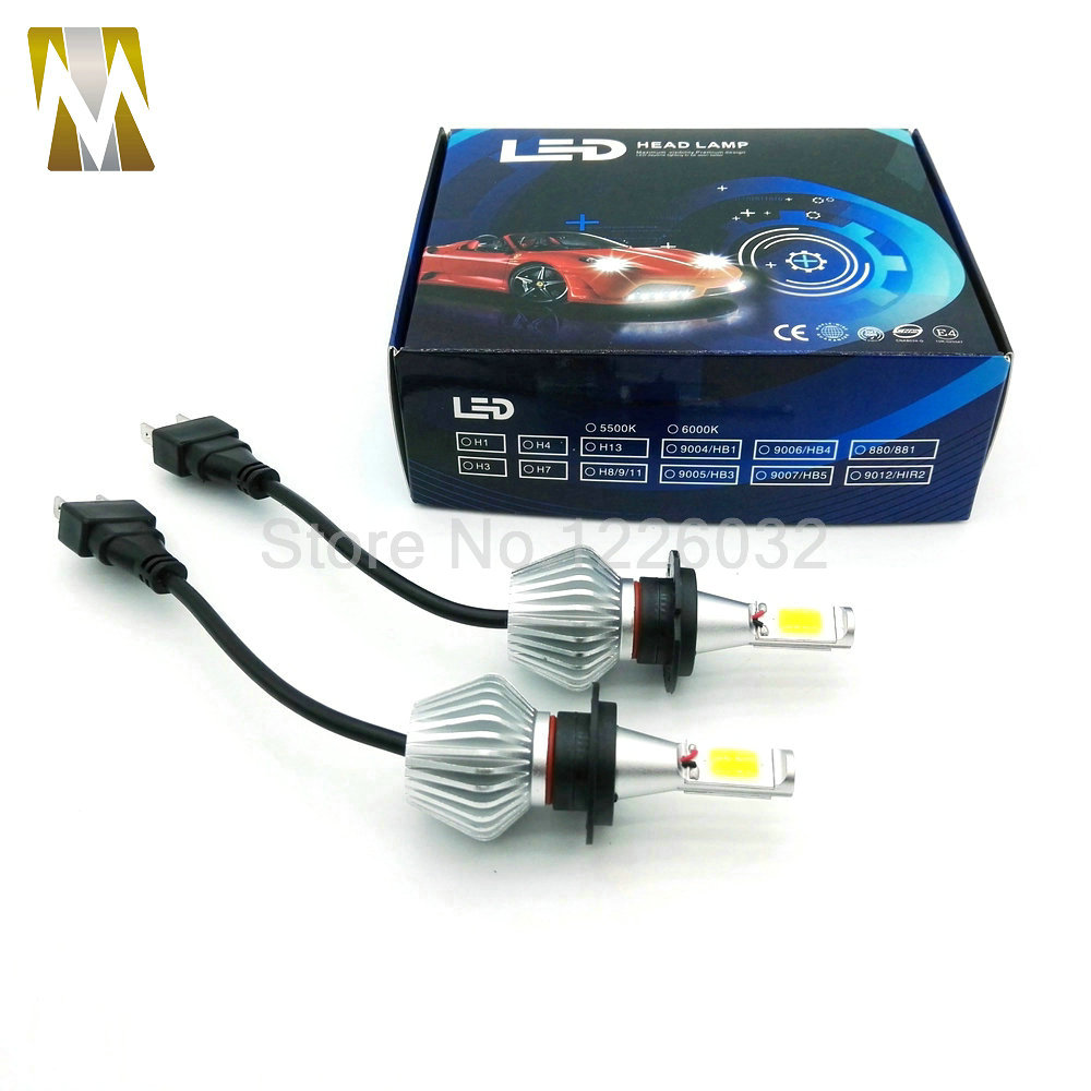 12V 24V LED Headlight H7 Conversion KiT 60W 5600LM White Bulb H8 H9 H11 H4 H1 H3 9005 9006 Headlamp Car Fog Light Lamp COB Chips<br><br>Aliexpress