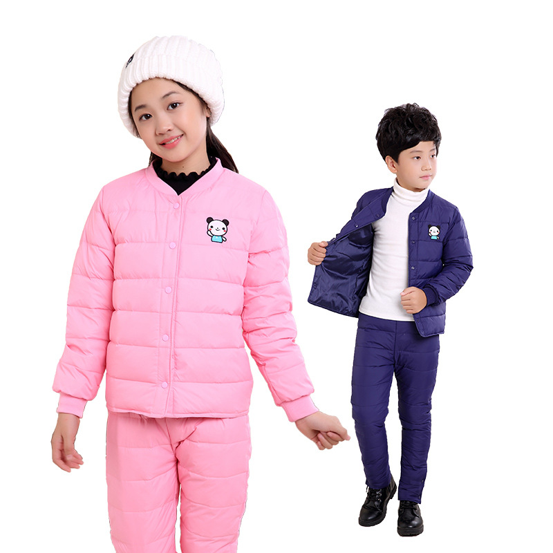 2017 New Winter Jacket Liner Set Kids Children Male and Female Trousers Tong Baobao Jacket Jacket Boys Girls<br>