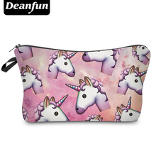 Deanfun Fashion Brand Unicorn Cosmetic Bags 2017 New Fashion 3D Printed Women Travel Makeup Case H90(China)
