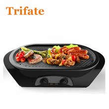 Household Barbecue Grill Electric Hotplate Smokeless Grilled Meat Pan Electric Grill Electric Griddle