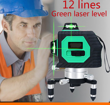 Green laser multifunction laser cross line rotating self-leveling green laser level 360 12 lineS(China)