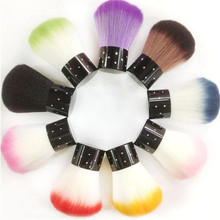 Retail Pro Colorful New Cleaning Brush Soft Cosmetic Make Up Brush Nail Art Dust Long Handle Fluorescent Manicure Tools