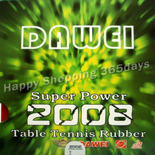 Original Dawei Super Power 2008 Pips-In Table Tennis Rubber with Sponge Table Tennis Bat Rubber Racket Rubber Pimple Rubber