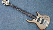 Top quality 5 strings bass guitar BEST workmanship and finish Through neck construction Free shipping(China)