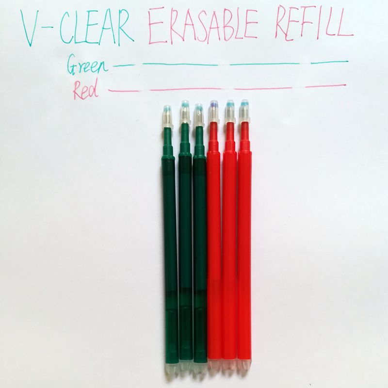 Office School Stationery Erasable Pen Refill 0.7mm RedGreen Ink 6PCS Gel Refill Pen for Kid Children Student Writing Pen Refill 4