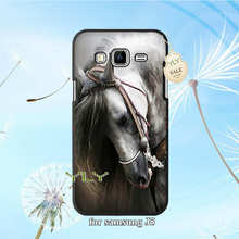 horse lovely plastic hard phone accessories case for samsung J1 J3 J5 J7 A3 A5 A7 2015 2016 A8 A9 s6 edge s7 s7edge s8 s8plus