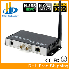 DHL Free Shipping H.265 H.264 SD HD 3G SDI To IP Streaming Video Wireless Encoder WIFI Encoder Support HTTP RTSP RTMP UDP ONVIF