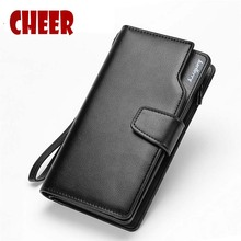 Brand Business wallet Clutch Coin pocket zipper men purse 3 fold wallet Casual luxury portfolio Phone bag Multi-card bit wallets(China)