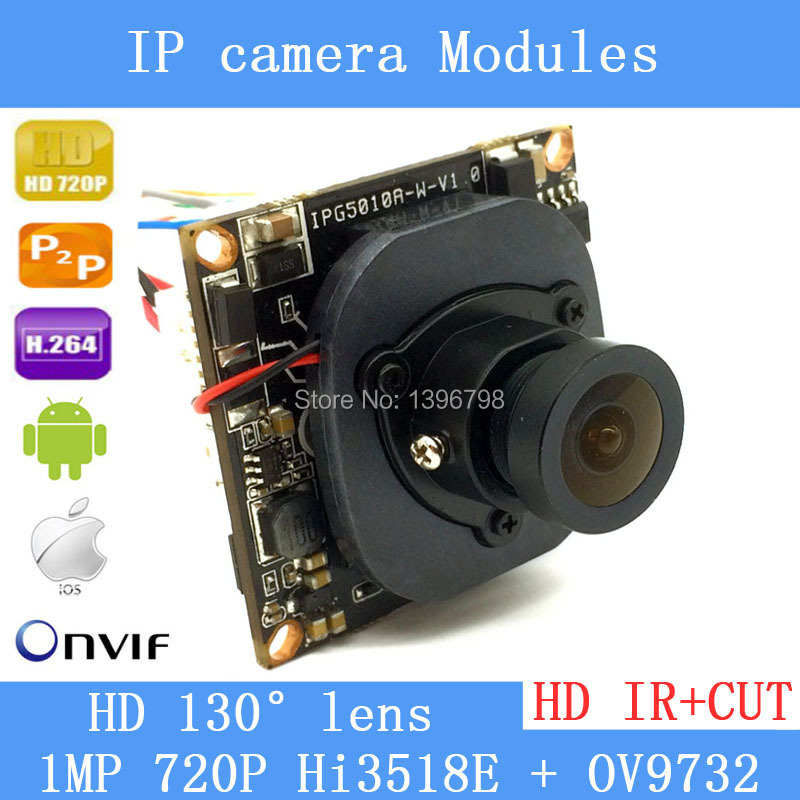 HI3518E + OV9732 720P 1MP wide-angle 38mm X 38mm size IP Camera Main board module DIY IP camera or for repair replacement.<br><br>Aliexpress