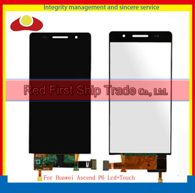 Original For Huawei Ascend P6 Lcd Display Assembly Complete + Touch Screen Digitizer 4.7 inch 1280*720 Black<br><br>Aliexpress