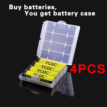 New 2017 0riginal 4pcs/Lot 55x14.5mm 1.2V NiMh AA 2000 mAh Battery Rechargeable AA Batteries pilas recargables EE6338aa