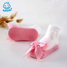Bow Tie Princess Girls Socks Spring and Autumn Carter Lace High Quality Girls Lovely Socks Cute Baby Socks(China)