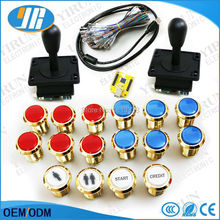 DIY jamma arcade kit for PC PS3 USB 2 player MAME Interface USB to Jamma zippy /HAPP style joystick 12V LED push button