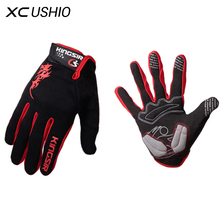 2017 Brand Men Sport Gloves Mountain Bike Full Finger Cycling Gloves Shockproof Breathable Touch Screen Thermal Gloves L-XXL(China)