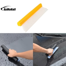 "14"" Yellow Clear Silicone Blade Car Window Film Scraper Water Tool Cleaner Tint(China)"