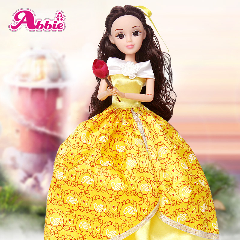 Abbie Princenss Dolls Beauty and the Beast Doll Fashion Set Best Gift to Children at Christmas 12 Joints body  Free shipping<br><br>Aliexpress