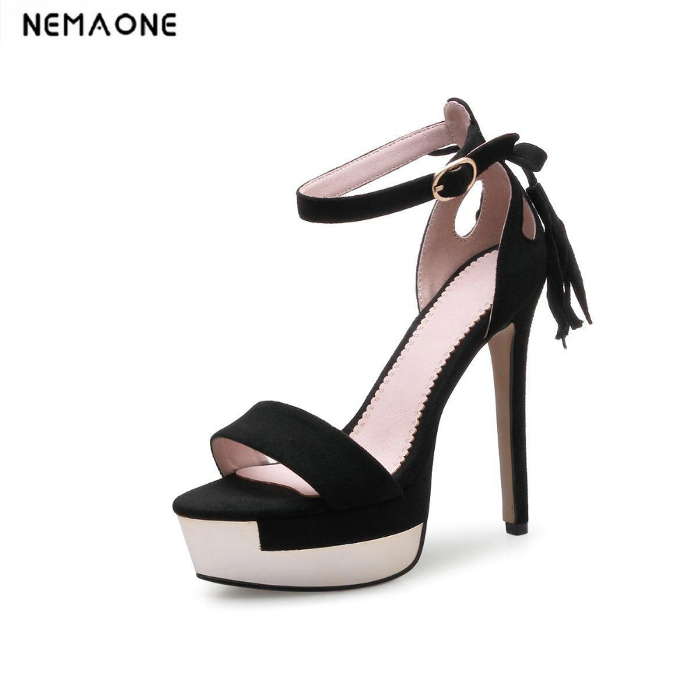 New fashion women sandals 13cm thin high heels shoes woman ankle strap sandals women sexy party dancing shoes<br>