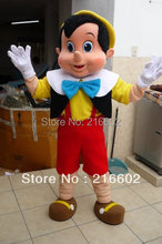 Pinocchio Mascot Costume, Adult Halloween Fancy Dress Cartoon Character Outfit Suit