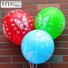 20PCS 12inch Butterfly Printed Latex Balloon Inflatable Helium Air Ball Wedding Decoration Happy Birthday Party Supplies Balloon