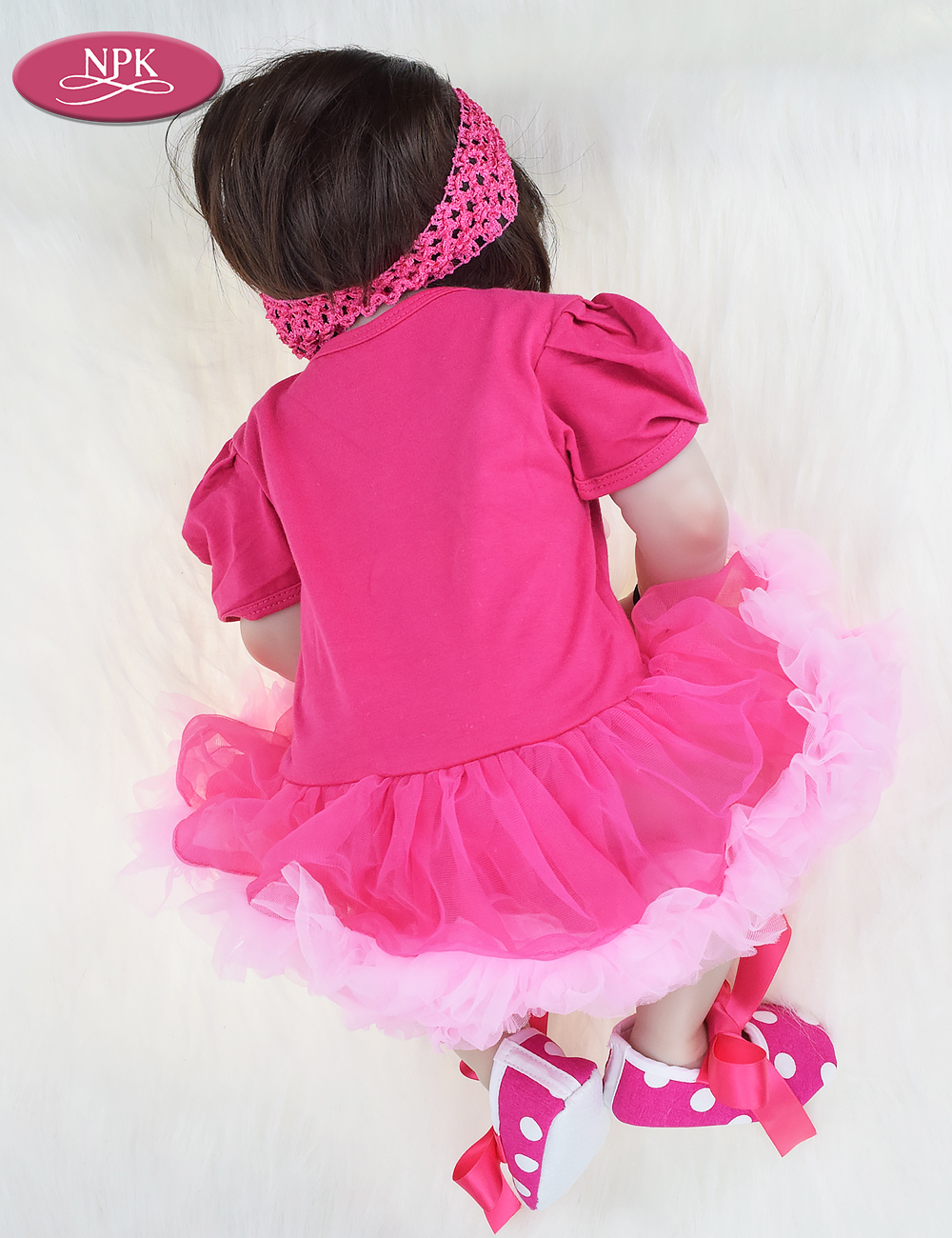 NPK 57CM Full Body Soft Silicone Girls Reborn Baby Doll Bathe Toys Lifelike Princess Girl Dolls Bebe Real Reborn Boneca Menina  (9)