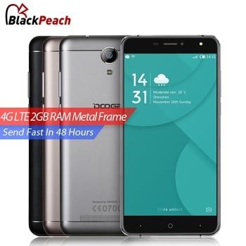 Doogee mtk6737 x7 pro 4g mobile phone 6.0 polegada hd quad core Android 6.0 2 GB RAM 16 GB ROM 8MP Cam 3700 mAh Armação de Metal de Smartphones