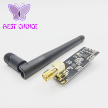 1set/lot Wireless Module NRF24L01+PA+LNA with Antenna 1000 Meters Long Distance Free Shipping