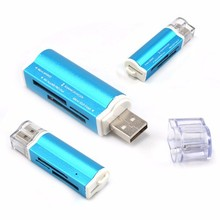 2015 Aluminum All in one USB 2.0 Multi Memory Card Reader for Micro SD/TF M2 MMC SDHC MS Memory Stick Hot Worldwide