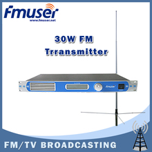 Free shipping FU-30/50B 30W FM transmitter 0-30w adjustable radio broadcaster RDS port CD Sound Quality+1/2 Wave GP antenna KIT(China)