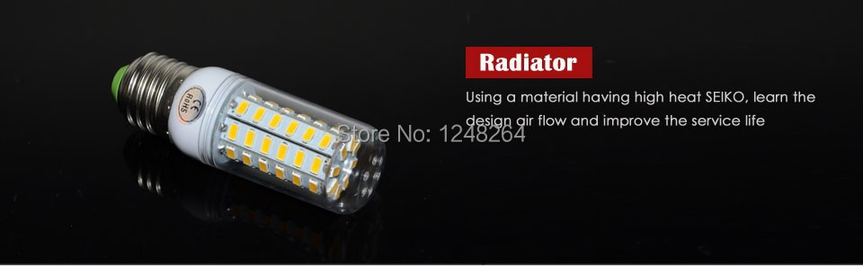 NEW E27 lamps SMD Cree 5730 220V Corn Bulbs 56 LEDs Max 18W lights Energy Efficient Lighting<br><br>Aliexpress