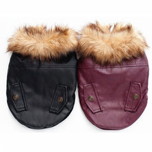Super warm pet leather jacket for dogs pet dog clothes winter puppy dogs clothing coat pet shop products supplies